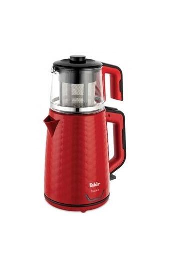 Fakir Tastea Kırmızı Siyah 1650 W Cam Demlikli Çay Makinesi Renkli